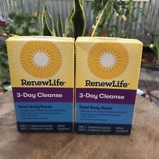 RenewLife 3-Day Cleanse Total Body Reset 2 parts -12 Capsules (x2) Exp. 04/21