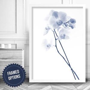 Minimal Gallery Wall Art PRINT Blue Floral FREESIA Photo Poster Decor