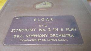 ELGAR SYMPHONY NO2 IN E FLAT BBC SYMPHONY ORCHESTRA ADRIAN BOULT HMV DB6190-95