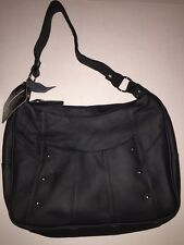 ROMA LEATHERS CONCEALED CARRY HANDGUN PURSE HANDBAG - #7006 BLACK