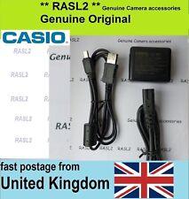 Genuine CASIO AD-C53U Charger + USB Cable Exilim EX-TR100 EX-TR150 EX-ZR200