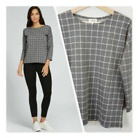 [ SEED HERITAGE ] Womens Checkered 3/4 Sleeve Top  | Size XS or AU 8 / US 4