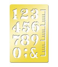 "Momenta Art-C Brass Template - Numbers 3.9""x2.6""  #703"