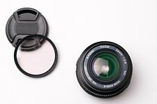 Vivitar 28mm f/2.8 MC Wide Angle Lens by Komine Olympus OM Caps & Filter (#2199)