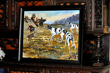 Great  Large Hunting Dogs Painting  by well listed Idaho artist Terry Lee