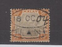 Malaya Federated States 1900 50c Tiger SG22b VFU JK1370