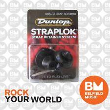 Jim Dunlop Dual Straplock Black J103B Strap Lock StrapLok Strap Lock Lok