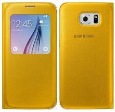 Genuino Funda Plegable De Galaxy Samsung S VIEW S6 G920F Smartphone Cubierta de Libro Original