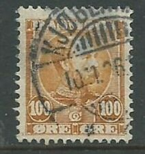 Denmark 1904 100 ore brown SG108 good used (2036)