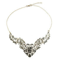 Vintage Necklace Chain necklace metal ladies chain party evening dress LW