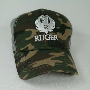 Ruger Gun Logo Snapback Mesh Camo Baseball Cap