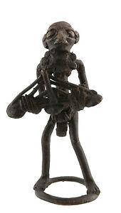 Statuetta, Statuetta Africana IN Bronzo, Vecchio-Cetra-Arte 1099