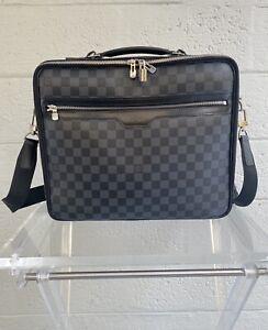LOUIS VUITTON Damier Graphite Steeve Briefcase Crossbody Bag