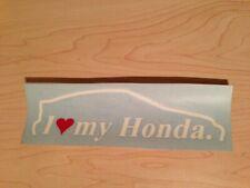 88-91 Honda Civic Hatchback CRX EF8 EF Decal Vinyl Sticker Rare new