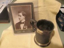 1886 Army Texas National Guard Shooting Trophy Cup Marksmanship Silver T Clarke