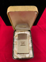 Zippo Vintage 10Kt. Gold Filled slim lighter with PEPSI on front and Zippo case