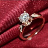 2Ct Round Gorgeous Cut Moissanite Solitaire Engagement Ring 14K Rose Gold Finish