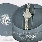Authentic Citizen Eco-Drive Ladies Silhoutte Two Tone Watch EX1084-55A