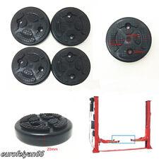 4 Pcs Black Durable Round Car Truck Heavy Duty Rubber Arm Pads Lift Accessories