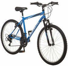 Mens Mountain Bike 26 Bicycle Suspension Alloy Wheels Shimano 18 Speed Blue