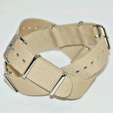 Beige / Sand Nato Watch Strap : 18mm, 20mm, 22mm or 24mm (FL34)