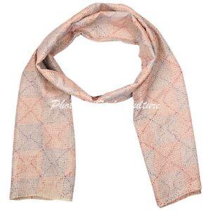 Indian Womens Kantha Stole Handmade Design Scarves Neck Wraps Dupatta Shawl lot