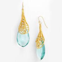 Elegant Yellow Gold Women Lady Hook Earrings Crystal Ear Stud Dangle Jewelry