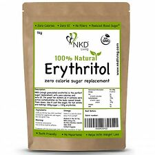 Erythritol Zero Calorie Sweetener by NKD Living (granulated UK Brand) 1 Kg