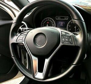 Passend zu Mercedes Benz C Klasse W204 E Klasse W212 Lenkradblende Carbon Rahmen