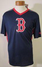 NWT MLB Team Apparel Boston Red Sox Mens Practice Pullover Jersey Shirt XL Navy