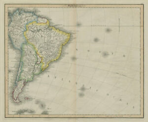 South America /Atlantic Ocean. Gran Colombia. United Provinces. LIZARS 1842 map