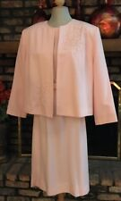 Diane Roberts 2-Piece Suit Dress and Jacket Pink Size 22H
