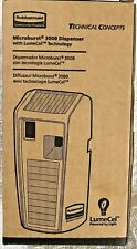 New Rubbermaid Mircobrust 3000 Dispenser W/LumeCel Technology Chrome #1955230