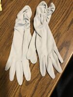 VINTAGE FOWNES EMBRACEABLE GRAY  EVENING GLOVES!   RUCHED