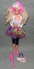 Barbie mit Hut Vintage 80er 90er Jahre Puppe Blond Capri Hose a