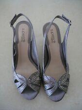 Shoes Diana Ferrari Supersoft Silver 6cm High Size 7 -1/2