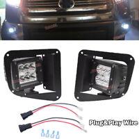 For 14-UP Toyota Tundra Lower Bumper 24W Fog LED Light Bracket+Plug N Play Wire
