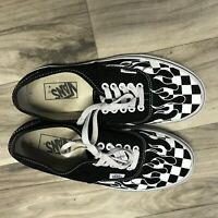 Vans Shoes Checkered Flames Checkerboard