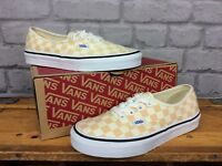 VANS LADIES AUTHENTIC CHECKERBOARD APRICOT AND CREAM TRAINERS VARIOUS SIZES