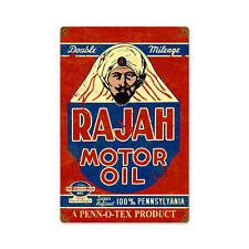 RAJAH MOTOR OIL Metall Schild 45cm! Pennsylvania Gasoline Texan Werkstatt Garage