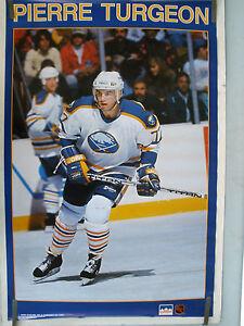RARE PIERRE TURGEON SABRES 1990 VINTAGE ORIGINAL NHL STARLINE HOCKEY POSTER