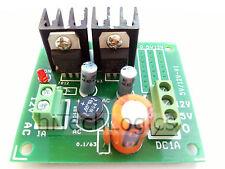 Dual Output +5V +12V DC Power Supply Board based on IC 7805 / 7812/ Input 12V AC