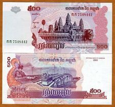 Cambodia, 500 Riels, 2002, P-54 (54a) UNC