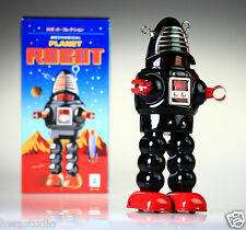 MS430 Tin Robot Planet Robot Black Vintage Reproduction NEW Windup toy NOSTALGIC