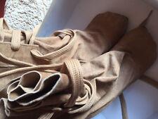 *RARE* VIVIENNE WESTWOOD bag / sack boots, beige suede, 36. VGC. GENUINE.