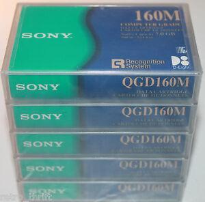 Sony 160M QGD160M 5 x Blank Data Cartridge 7 GB Each NEW Computer Grade 524 ft