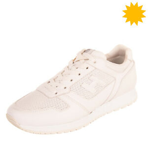 RRP €250 HOGAN Leather Low Top Sneakers EU 41 UK 7 US 8 Perforated Lace Up