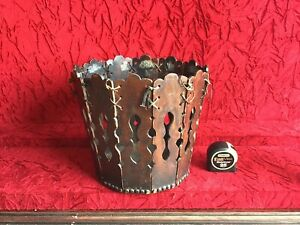 Amazing Design Antique Arts & Crafts Waste Basket - THE LOOK - Character Patina