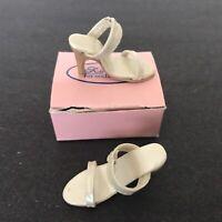 "Kingstate Doll Shoes Cream Off White  Sandals 16""  Tyler Gene Original Box"