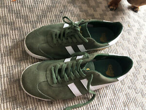 Gola Classics Mens Harrier Suede Trainers Olive Green UK9 Anniversary Edition